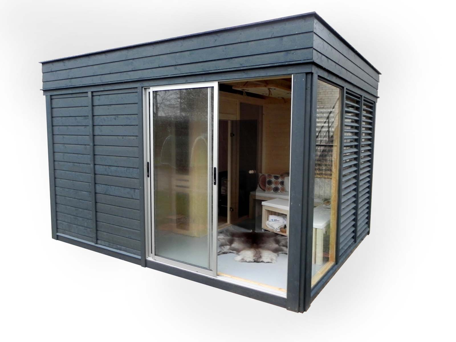 gartensauna sauna cube 4 x 3 m breite x tiefe aus fichtenholz garten cube kube gartenhaus. Black Bedroom Furniture Sets. Home Design Ideas
