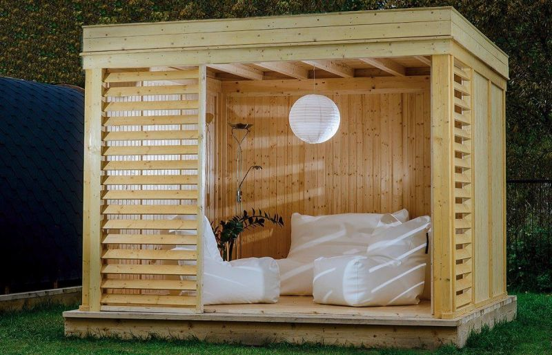holz pavillon garten. Black Bedroom Furniture Sets. Home Design Ideas